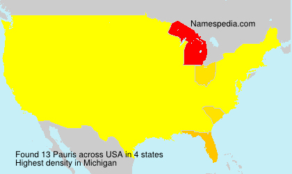 Surname Pauris in USA