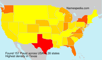 Surname Paust in USA