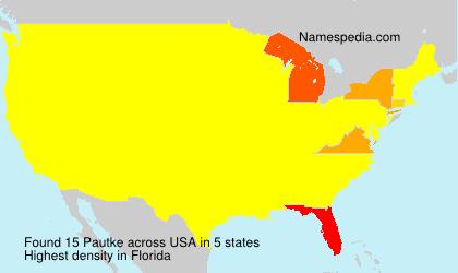 Surname Pautke in USA