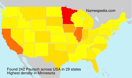 Familiennamen Pautsch - USA