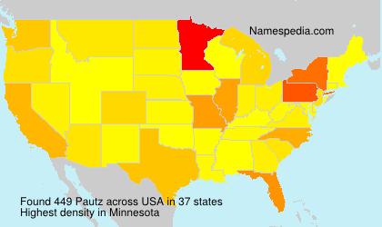 Familiennamen Pautz - USA