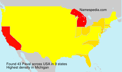 Surname Paval in USA