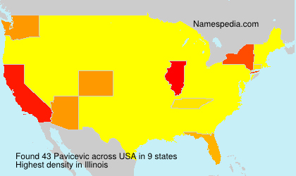 Surname Pavicevic in USA