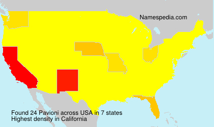 Surname Pavioni in USA
