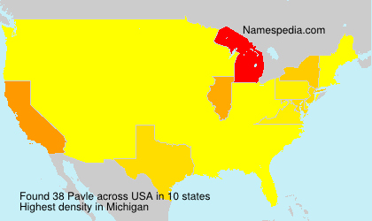 Surname Pavle in USA