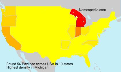Surname Pavlinac in USA
