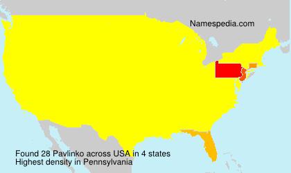 Familiennamen Pavlinko - USA