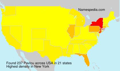Familiennamen Pavlou - USA
