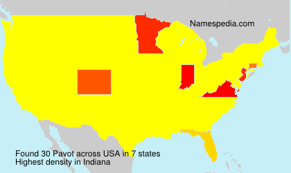 Surname Pavot in USA