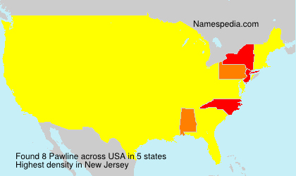 Surname Pawline in USA