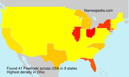 Surname Pawlinski in USA