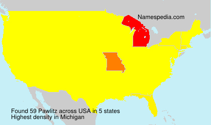Surname Pawlitz in USA