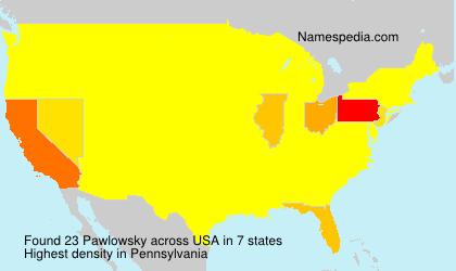Surname Pawlowsky in USA