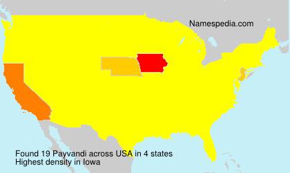 Surname Payvandi in USA