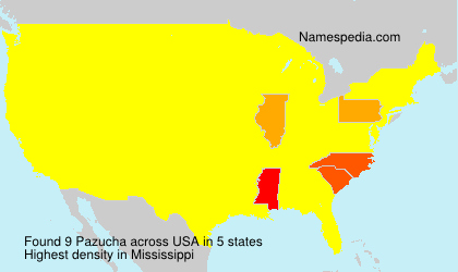 Surname Pazucha in USA