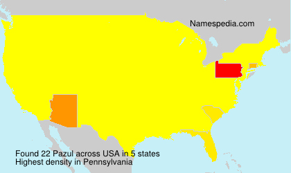 Surname Pazul in USA