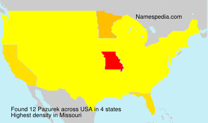 Surname Pazurek in USA