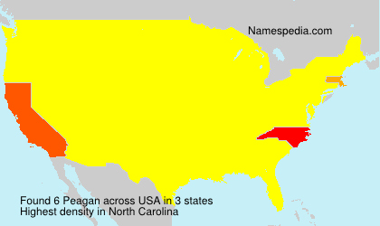 Surname Peagan in USA