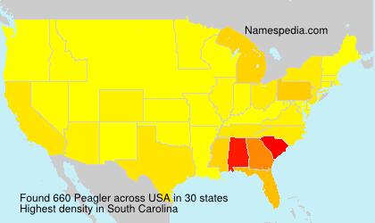 Surname Peagler in USA