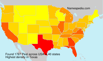 Surname Peal in USA