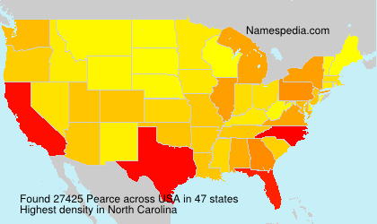 Surname Pearce in USA