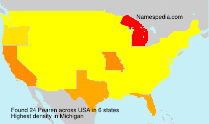 Surname Pearen in USA