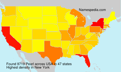 Surname Pearl in USA