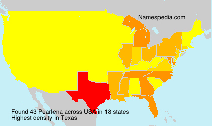 Surname Pearlena in USA