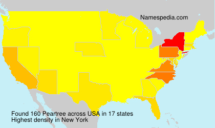 Surname Peartree in USA