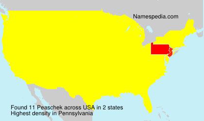 Surname Peaschek in USA