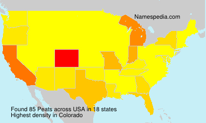 Surname Peats in USA
