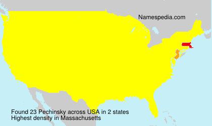 Familiennamen Pechinsky - USA