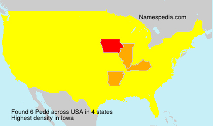 Surname Pedd in USA