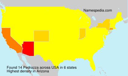 Surname Pedrazza in USA