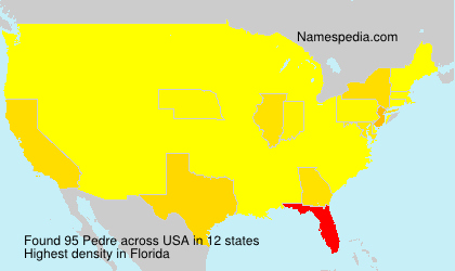 Surname Pedre in USA