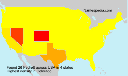 Surname Pedrett in USA