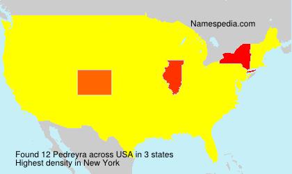 Surname Pedreyra in USA