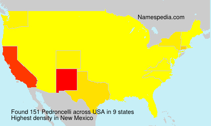 Surname Pedroncelli in USA