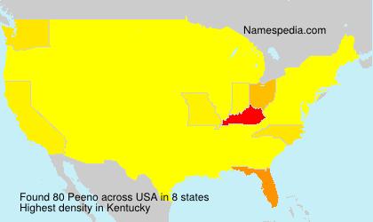 Familiennamen Peeno - USA