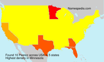 Surname Peerez in USA