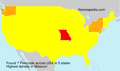 Surname Peerzade in USA