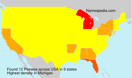 Surname Peewee in USA