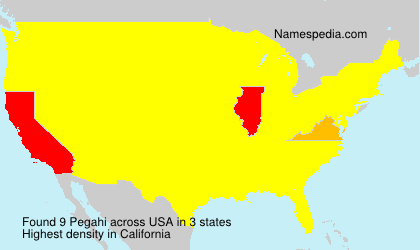 Surname Pegahi in USA