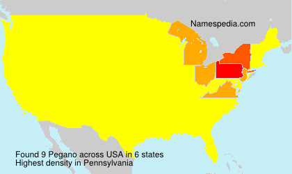 Familiennamen Pegano - USA