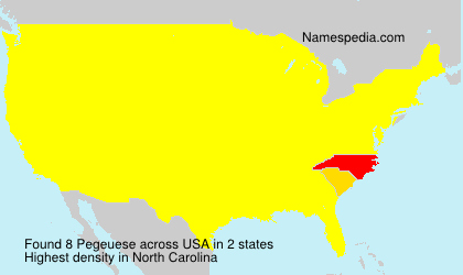 Surname Pegeuese in USA