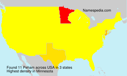 Surname Peham in USA