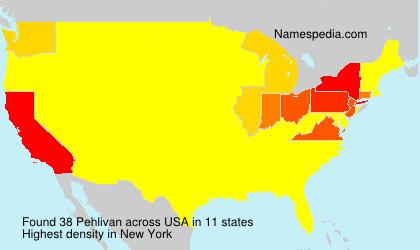 Familiennamen Pehlivan - USA