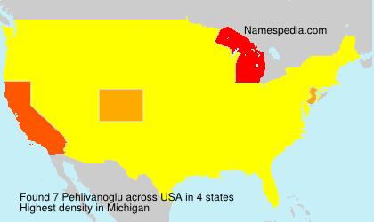Familiennamen Pehlivanoglu - USA