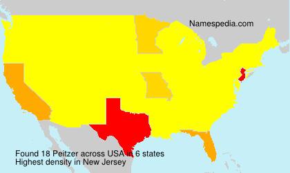 Familiennamen Peitzer - USA