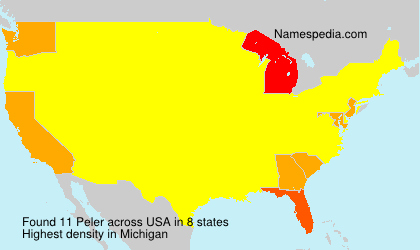 Surname Peler in USA